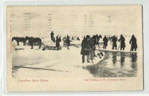 Canadian Sport Series, Ice Cutting St. Lawrence River (1906)