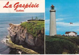 Cap-Bon-Ami and the Lighthouse of Cap-Des-Rosiers in Forillon Park, La Gaspe,...