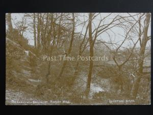 Cheshire ASHLEY MILL The Banks of the RIVER BOLLIN c1907 RP Postcard by Beeston