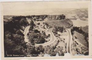 RP: Birds Eye View of Rowena Loops on the Columbia River Highway in Oregon 1947