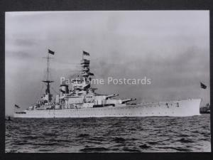 Military Naval H.M.S. RENOWN (2nd State) Launched 1916 RP Postcard by N.M.M. 220