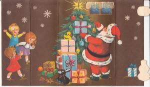 Christmas tree toys Santa Claus children toys mechanical greeting card Romania