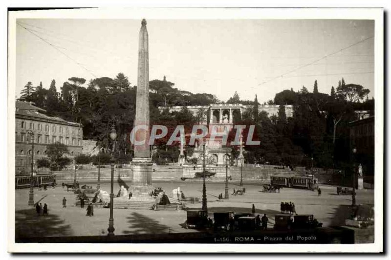Old Postcard Roma Piazza Del Popolo