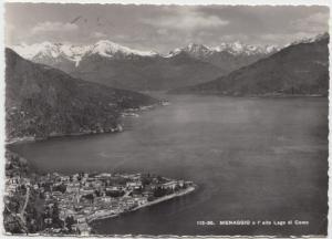 MENAGGIO e l' alto Lago di Como, used Real Photograph Postcard