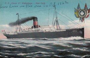 Ocean Liner S.S.Oscar II , Kobenhavn-New York , 00-10s