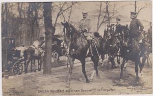 RP: Kaiser Wilhelm auf einem Spazierritt im Tiergarten , Berlin , Germany , 00-1