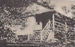 Maine Oxford Recreation Center Camp Ohuivo Artvue