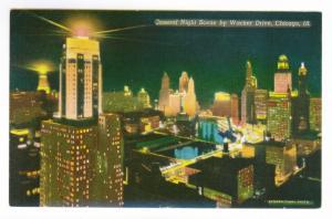 Chicago, Illinois to Rochester, Minnesota 1955 used Postcard, Wacker Drive
