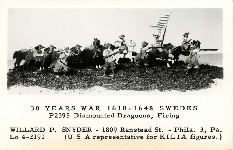 Advertising - KILIA Figures. Swedes, 30-Year War, 1618-1648   *RPPC