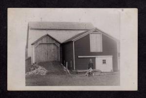 NY Women Dog Chenanco Forks ?  New York Real Photo Postcard RP RPPC Vintage 1915
