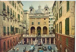 Italy, Genova, Genoa, Banchi Square and Church St. peter's in Banchi