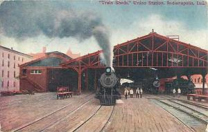 D/B Train sheds Union Station Indianapolis Indiana IN 1910