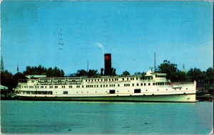 Steamer District Of Columbia Baltimore Steam Packet Co Old Bay Line Postcard