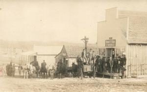 SHOE COMPANY & POST OFFICE ST.LOUIS CO. MO 1912 ANTIQUE REAL PHOTO POSTCARD RPPC