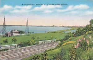 Wisconsin Milwaukee Bay Showing U S Coast Guard Station
