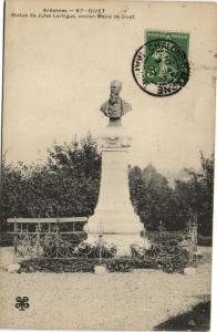 CPA GIVET - statue de jules lartigue ancien maire de GIVET (147845)