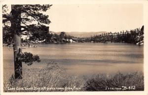 E58/ Long Lake California Postcard Real Photo RPPC c40s Basin Recreation Area
