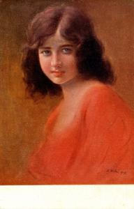Woman in Red   Artist: V Kotas