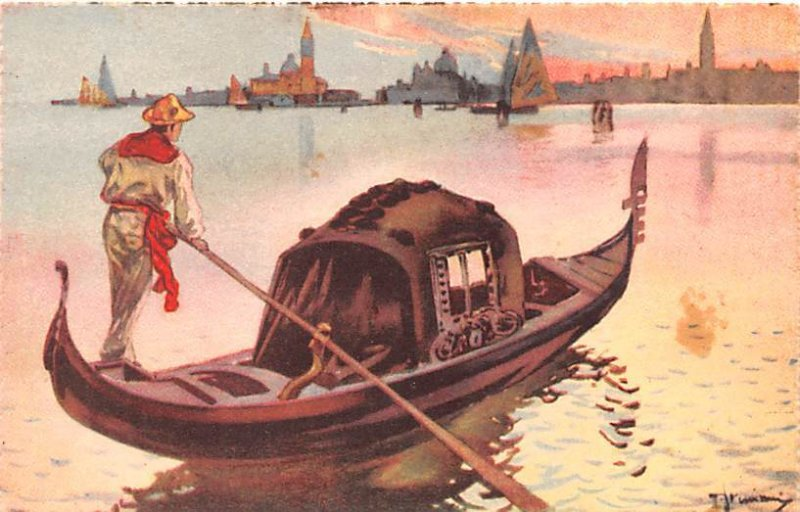 La Gondola Venezia Italy Unused