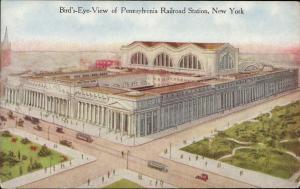 Pennsylvania Railroad Station New York bird's eye view