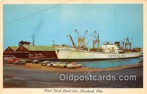 West Third Street Pier Cleveland, Ohio USA Ship Postcard Post Card Cleveland,...