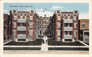A82/ Gary Indiana In Postcard 1920 Honeymoon Flats Apartments