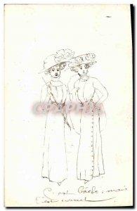 Old Postcard Fancy (drawing hand) Women