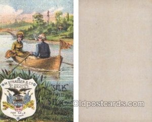 M.Strasser & Co. Albany NY, USA Trade Card Approx Size Inches = 3 x 5 Unused