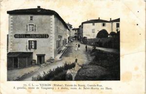 CPA YTZERON Entrée du Bourg, Grande-Rue (614672)