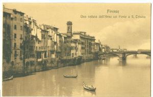 Firenze, Una veduta dell'Arno col Ponte a S. Trinita