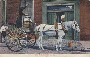 Louisiana New Orleans Milk Cart