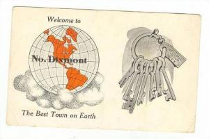 Best Town on Earth  w/ Globe,NOrth Dixmont,ME 1913 PU
