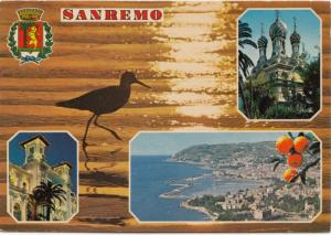 SANREMO, multi view, used Postcard