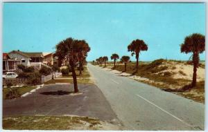 ISLE OF PALMS, South Carolina  SC  BEACH RESORT  ca 1960s  VW Bug  Postcard