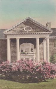 Hand-colored, Main entrance to the New Catamount Tavern, Burlington, Vermont,...
