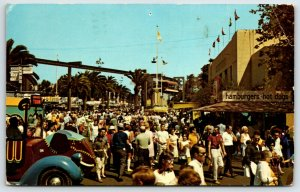 Postcard Street View Pomona California 1975 Hamburger Hot Dog Stand P7