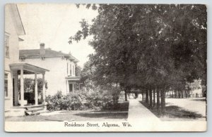 Algoma Wisconsin~Residence Street~Victorian Houses~Front Porch View~1913 B&W PC