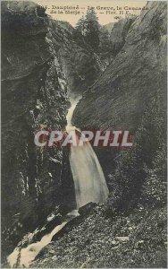Old Postcard Dauphine La Grave la Cascade Meije