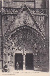Le Grand Portail De La Cathedrale, QUIMPER (Finistere), France, 1900-1910s