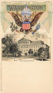 Washington DC The Pension Office Embossed Raphael Tuck Postcard