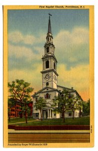 RI - Providence. First Baptist Church, Founded in 1638