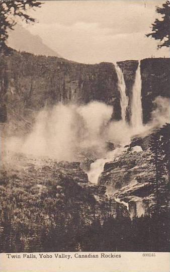 Canada Canadian Rockies Twin Falls Yoho Valley