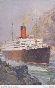 Oceanliner/Steamer/Ship, Cunard R. M. S. Laconia, Tonnage 20,000, 1900-1910s