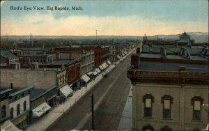 Big Rapids MI Birdseye View c1910 Postcard