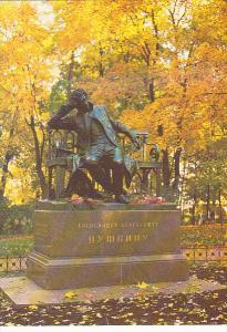 Russia Pushkin The Lyceum Garden Monument To Alexander Pushkin
