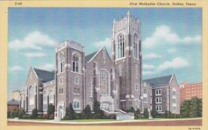 Texas Dallas First Methodist Church Curteich