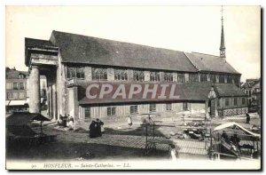 Postcard Old Honfleur Sainte Catherine