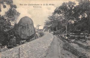 German East Africa Tanzania, Bau der Zentralbahn, Schotterung, Postcard