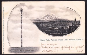 Totem Pole / Mt. Tacoma, Tacoma, WA - Sprouse & Son - 1907