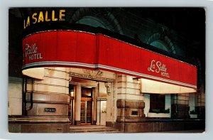 Chicago IL, La Salle Hotel, Chrome Illinois Postcard